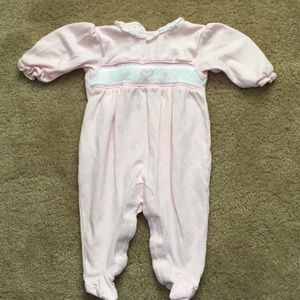 Kissy kissy footed outfit. 0-3 months